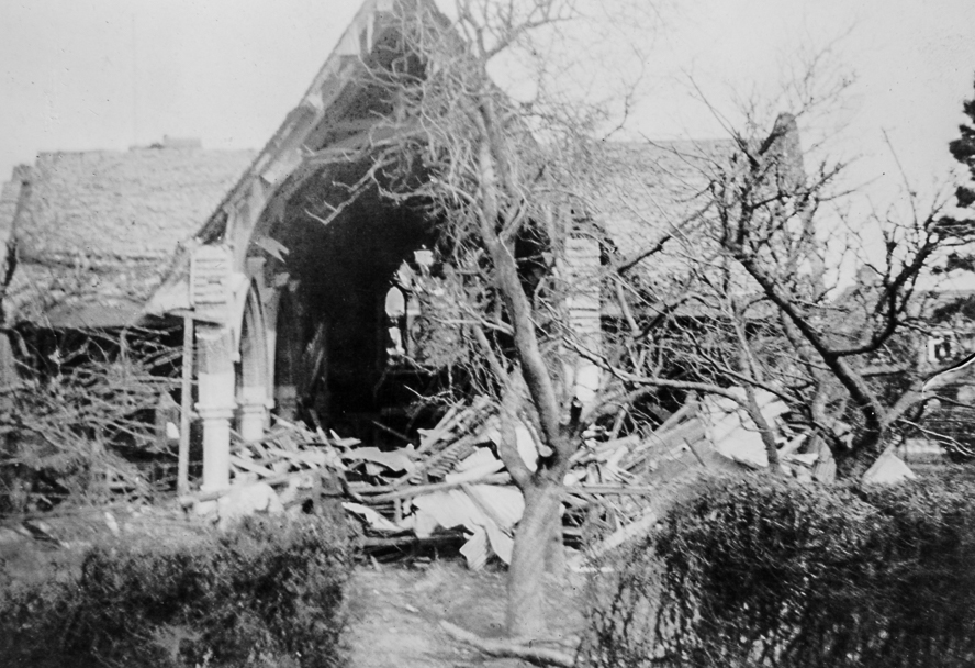 Original church, destroyed by enemy bombing